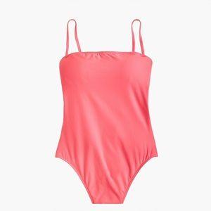 J Crew Baby Bow Back Swimsuit, Pink Flamingo